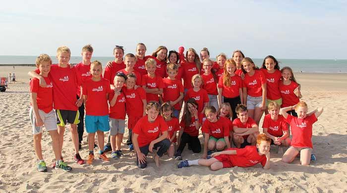 ISWIM-Teambuildingsdag voor de competitie zwemmers