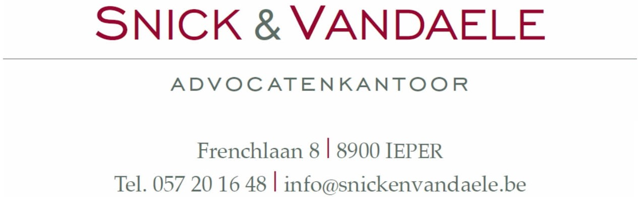 Snick & Vandaele advocatenkantoor Ieper